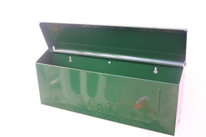 Image of Hunter Green Painted Mailbox by TheBusBox - Choose your color Wall Mounted Porch Mailbox