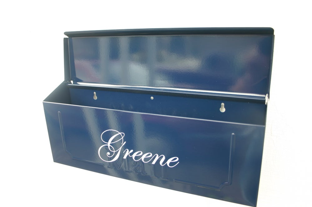 Navy Blue Painted Mailbox By Thebusbox Choose Your Color