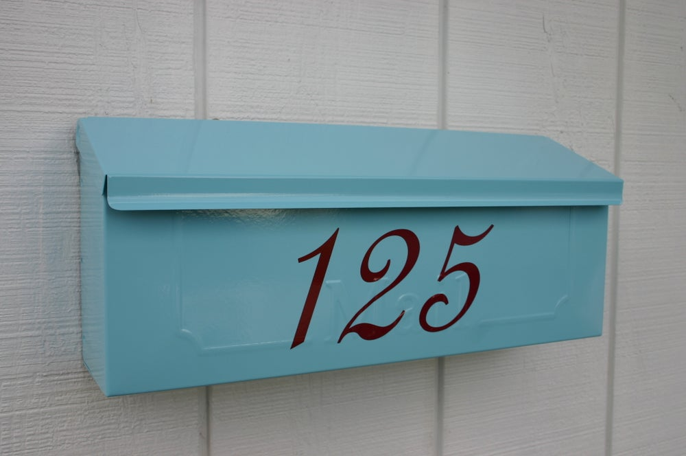 Aqua Painted Mailbox By Thebusbox Choose Your Color