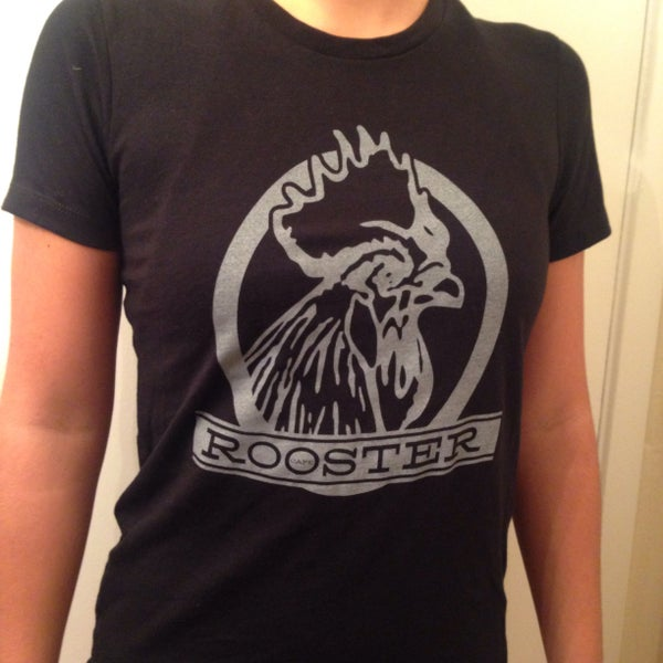 Image of Women's black Rooster T