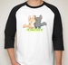 Image of Custom Design Baseball Raglan Sleeve T-Shirt
