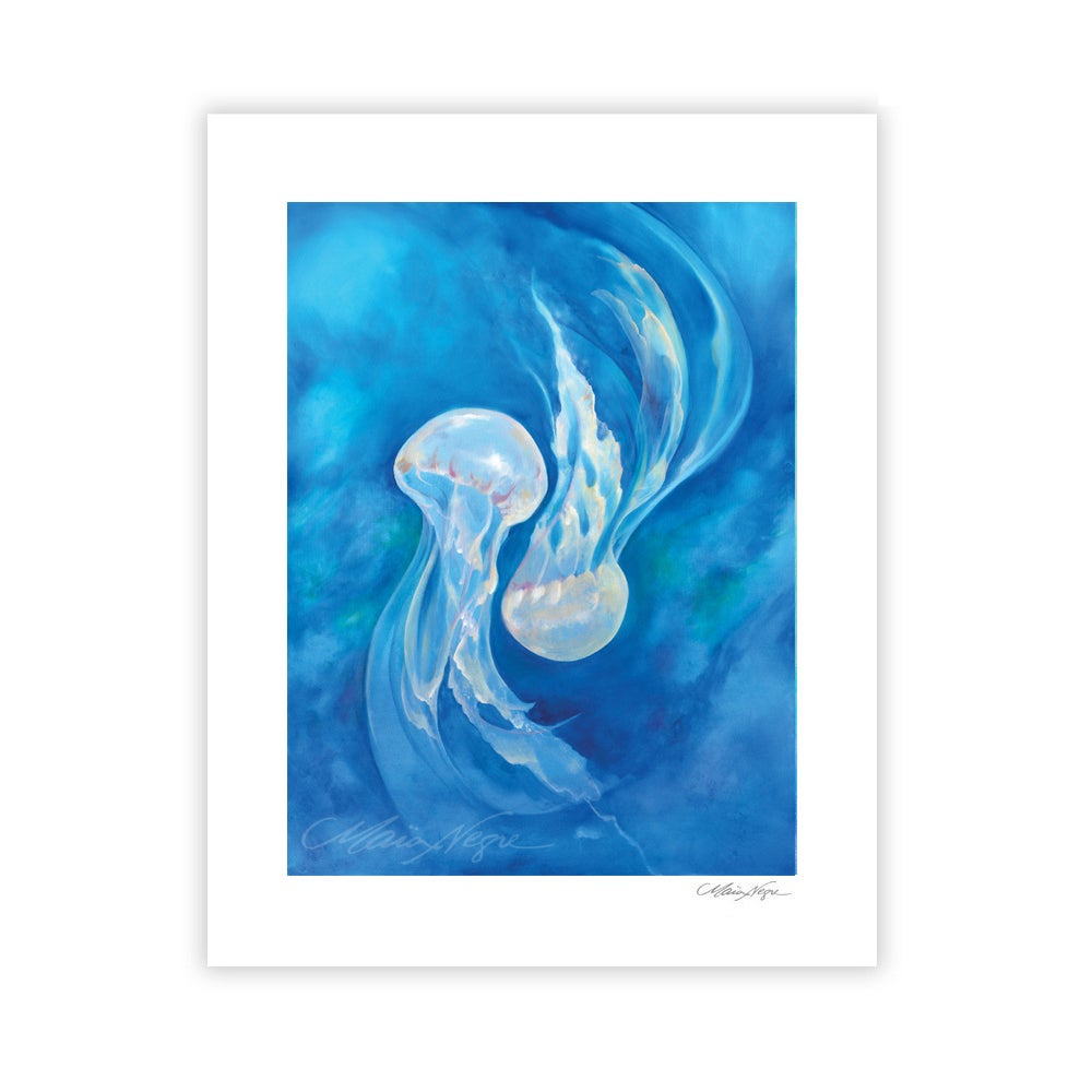 Image of Jelly Fish, Archival Paper Print