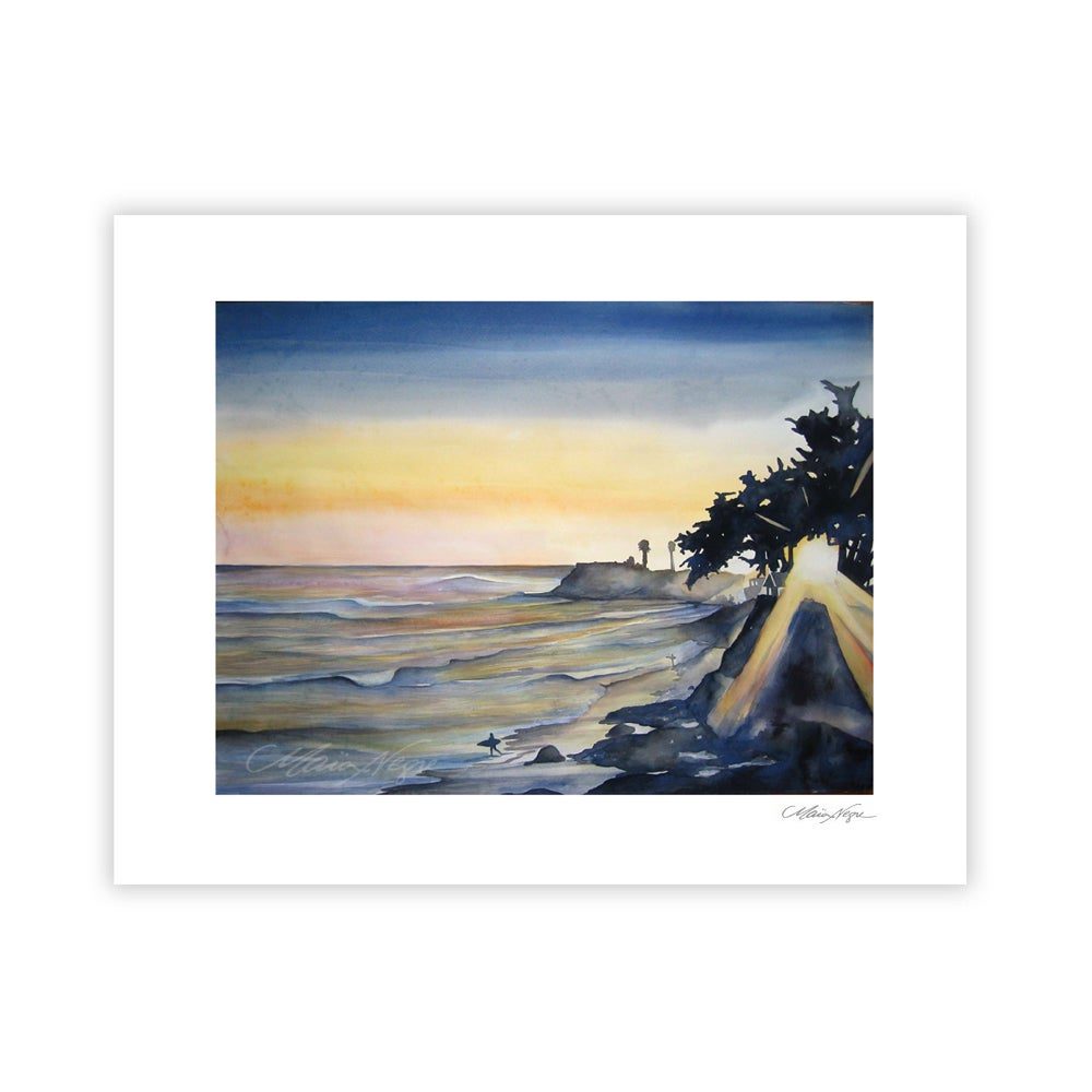 Image of Pleasure Point Sunset, Archival Paper Print