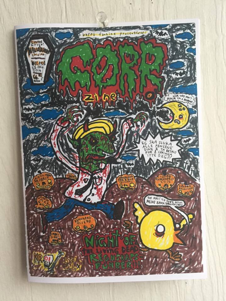 Image of GØRR Zine Vol.#01 (2016) Limited Halloween Edition