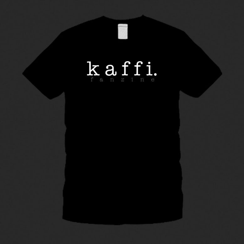 Image of kaffi fanzine t-shirt (Black)