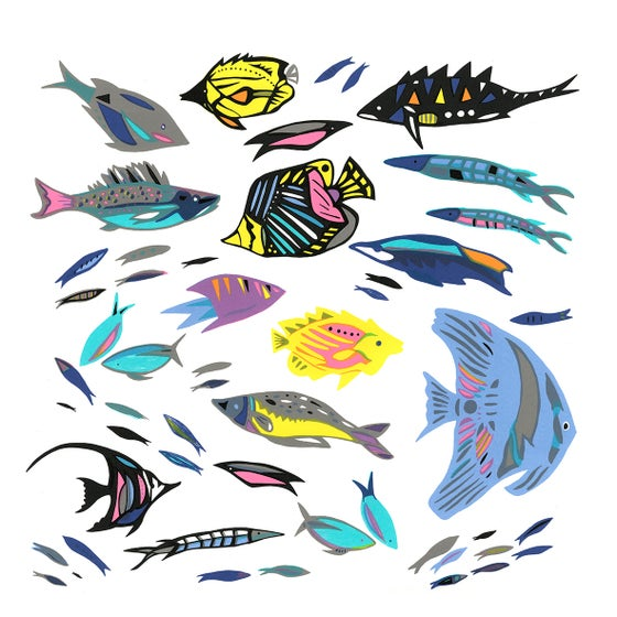 Image of Tropical Fish screen print