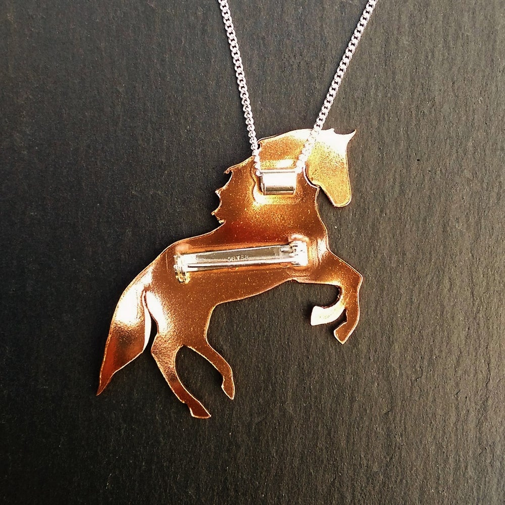 Image of Horse Necklace & Brooch