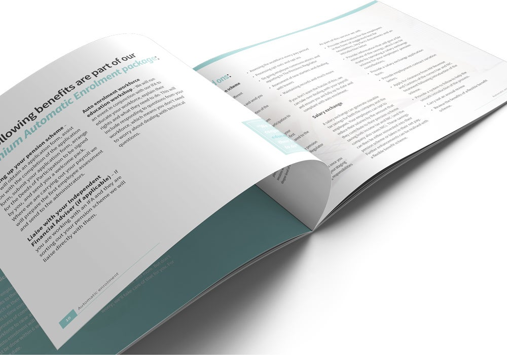 Image of Automatic Enrolment Brochure Print