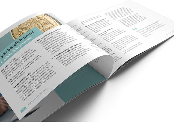 Image of Cloud Tax Brochure Print