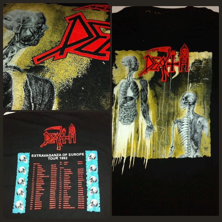 Image of Death European tour 1992 shirt
