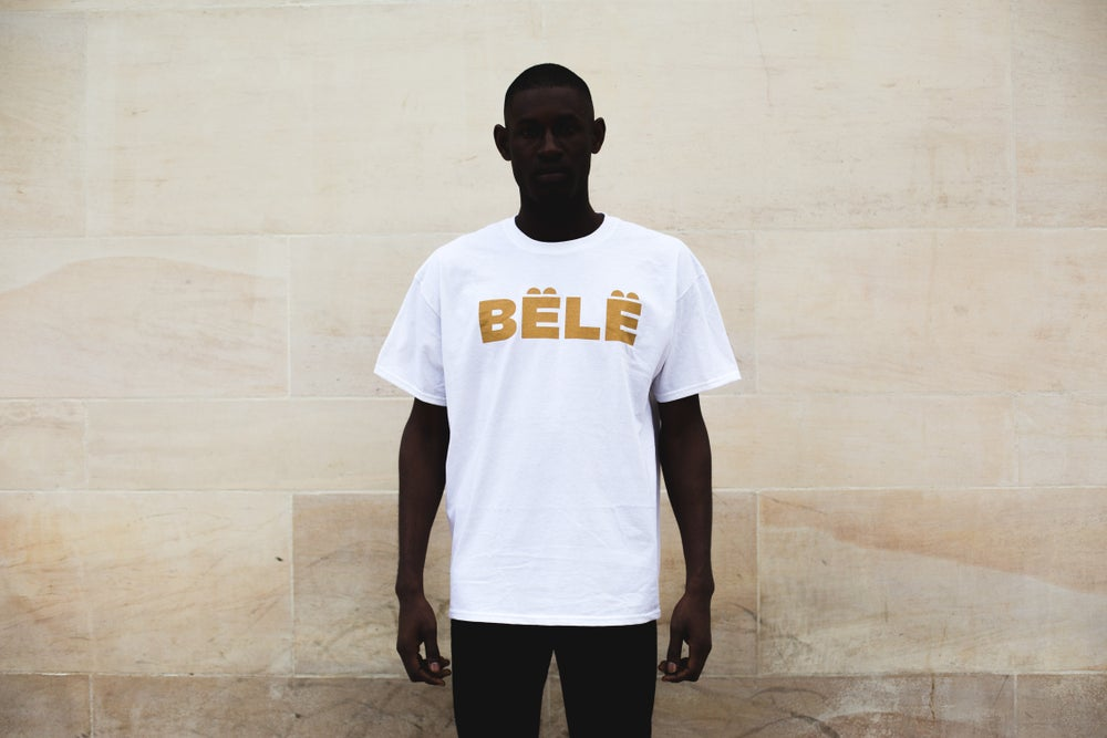 Image of BËLË T-SHIRT- WHITE WITH GOLD