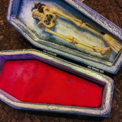"Image of 3/10 ""Unchained"" Coffin/Pin Set"