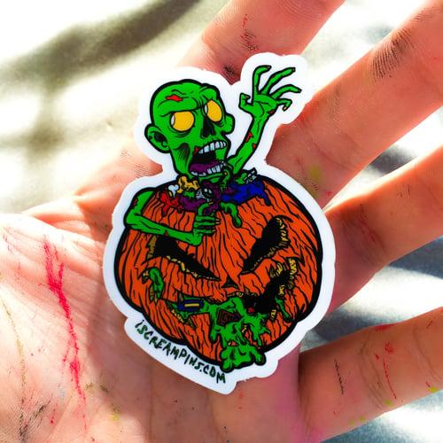 """Image of 8/10 """"Pumpkin Turf"""" Coffin/Pin Set"""