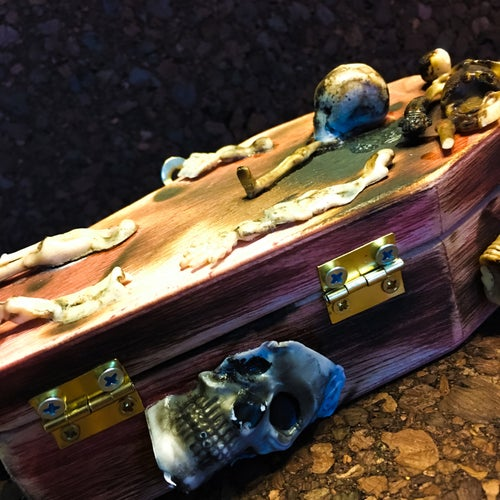 "Image of 10/10 ""Toasty"" Coffin/Pin Set"