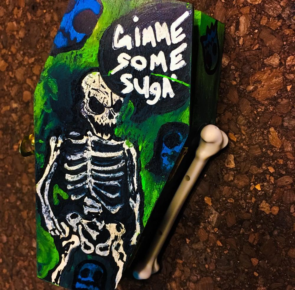 """Image of 6/10 """"Bone Daddy"""" Coffin/Pin Set"""