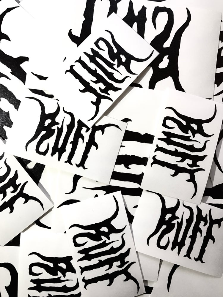 Image of DIE-CUT STICKER GLOSS BLACK