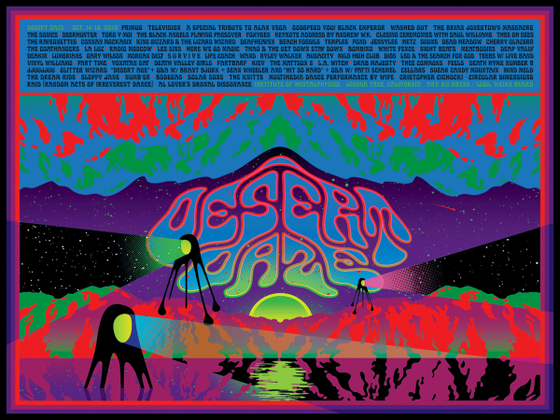 Image of Desert Daze 2016 Line Up Poster by Kii Arens