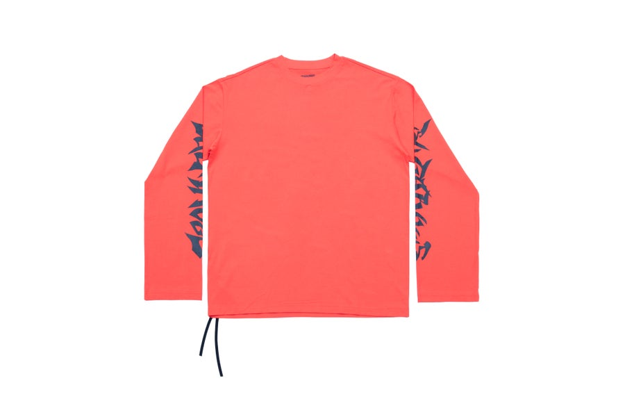 Image of SUGAR005 LONG TEE - ORANGE