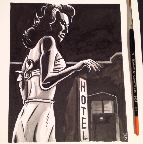 Image of Attack of the 50 Foot Woman original drawing