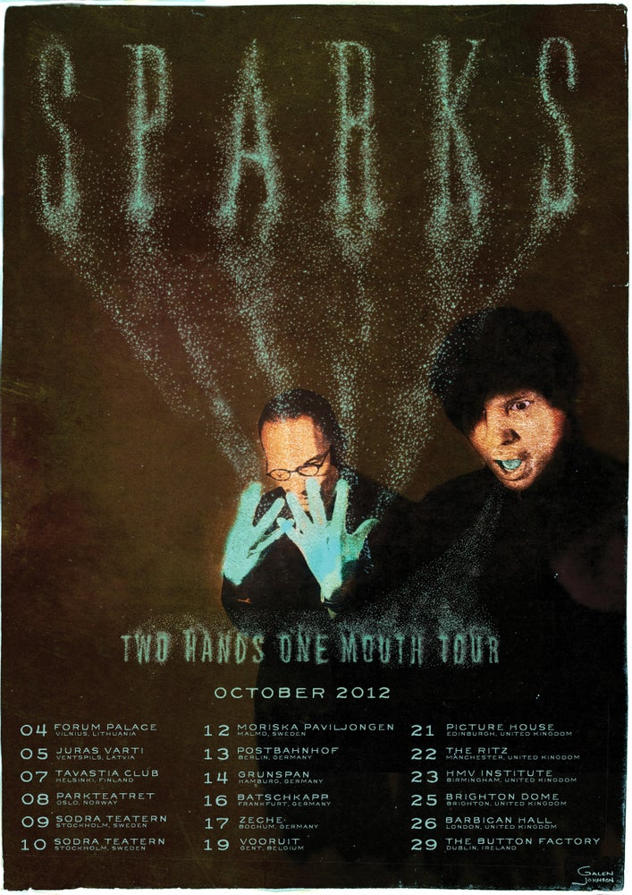 Image of 2 Variations of Two Hands One Mouth Tour Posters 2012 (FOLDED)