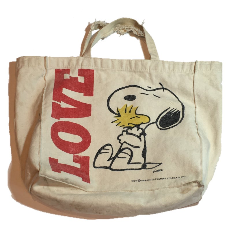 Image of Love snoopy tote bag