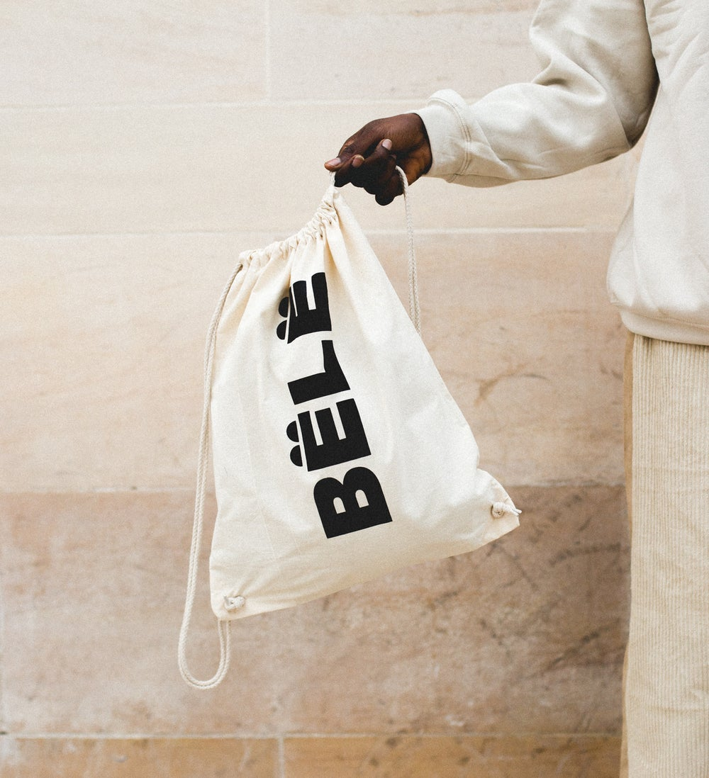 Image of BËLË BAG - BLACK LOGO