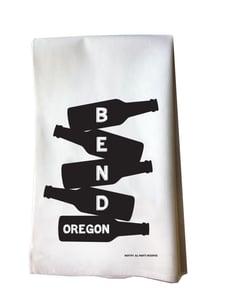 Image of Bend Beer Bottle Stack Cotton Flour Sack Tea Towel