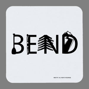 Image of Bend Activity Letter Coasters - set of 4