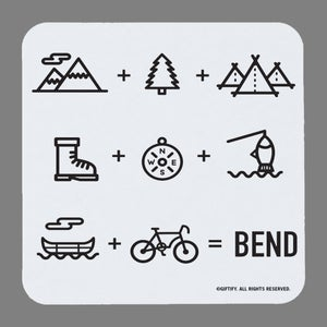 Image of Bend Equation Coasters - set of 4