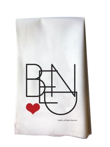 Image of Bend Heart Cotton Flour Sack Tea Towel