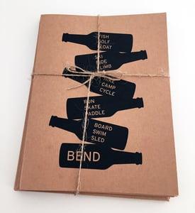 Image of Bend Beer Bottles Activities Note Card Set of 8