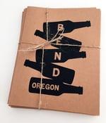Image of Bend Beer Bottles Stack Note Card Set of 8