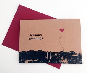 Image of Season's Greetings Bend, Oregon set of 8 Note Cards