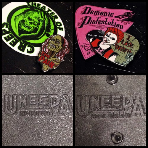 Image of Theater Of Creeps X Demonic Pinfestation 2-4-5 Trioxin Pin Set