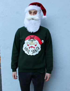 Image of Printed Hail Santa Sweaters