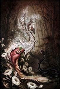 Image of Kim Saigh- 'Swan and Snake', Limited Edition Print / NO OVERSEAS SHIPPING