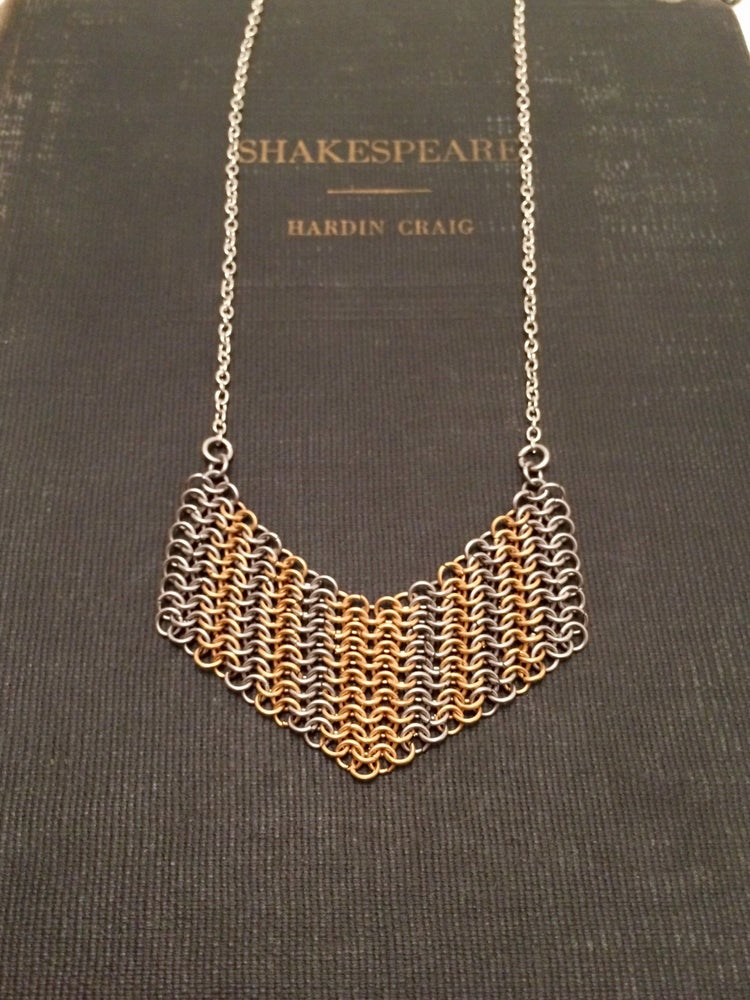 Image of Chained Armour ~ Chevron Necklace