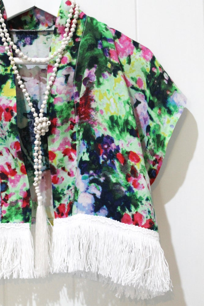 Image of Monet Tassel Kimono
