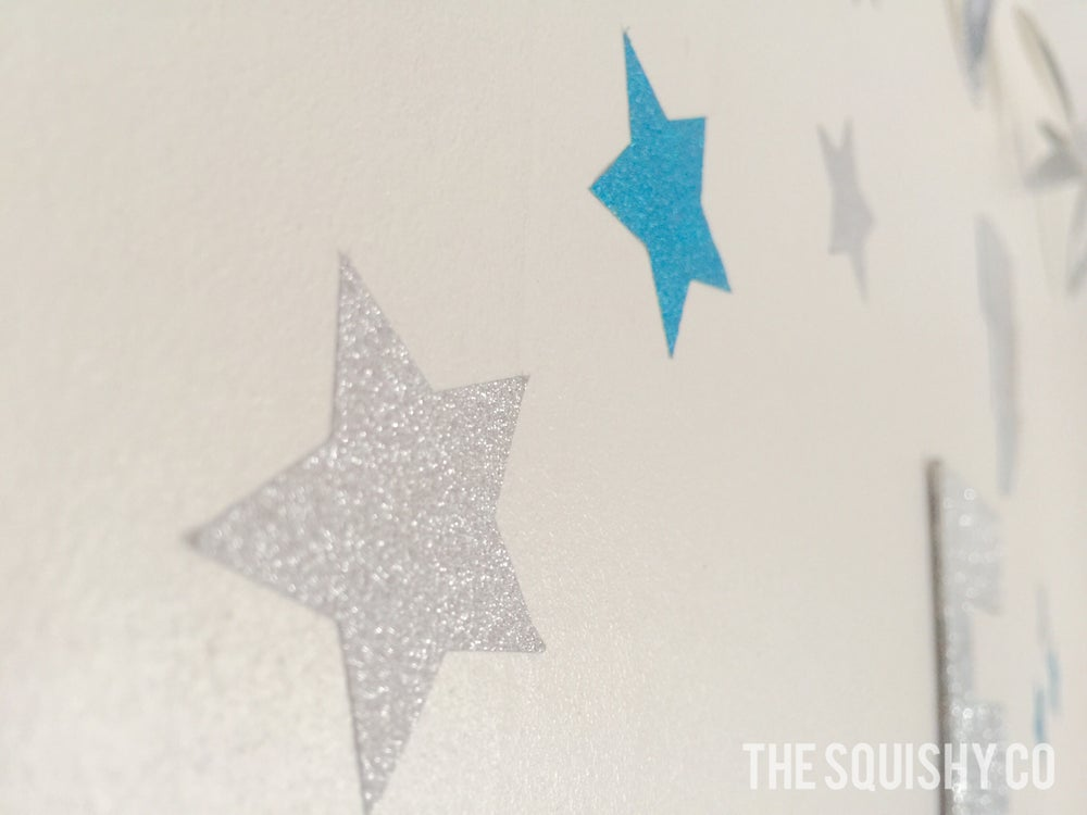 Image of Shaped wall decals - stars, triangles, hearts