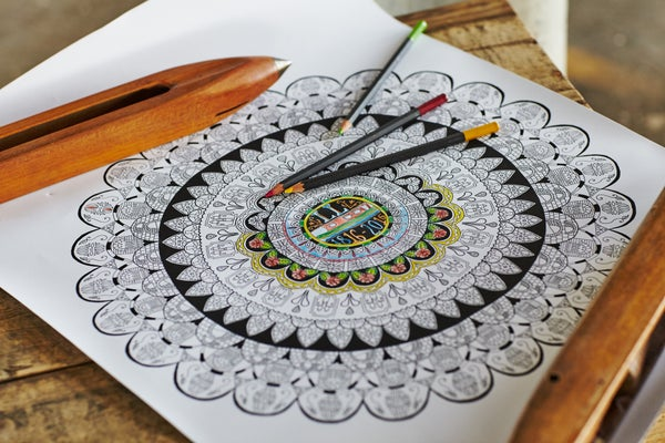 Image of Built by Hand Colouring Poster
