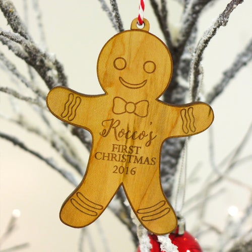 Image of Personalised Gingerbread Man/Woman Engraved Ornament