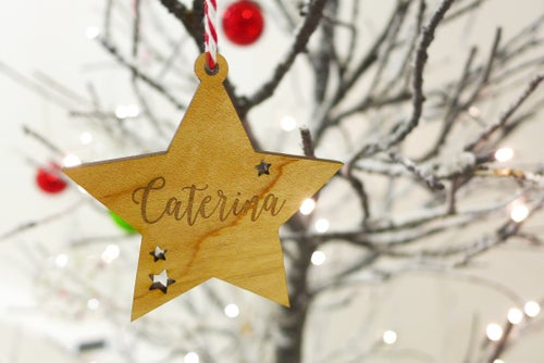 Image of Personalised Engraved Star Ornament