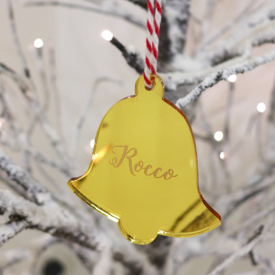 Image of Personalised Engraved Bell Ornament