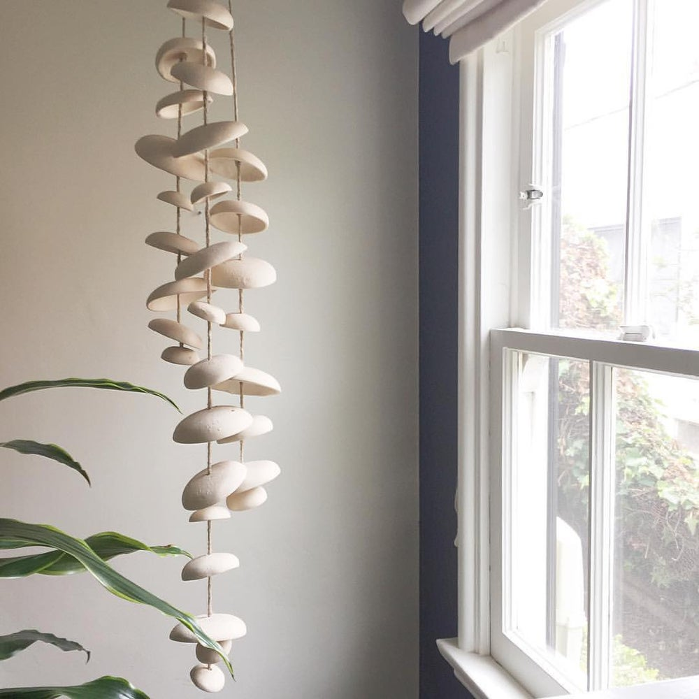 Image of Moon Chimes Half Stack Unglazed Natural Buff Stoneware
