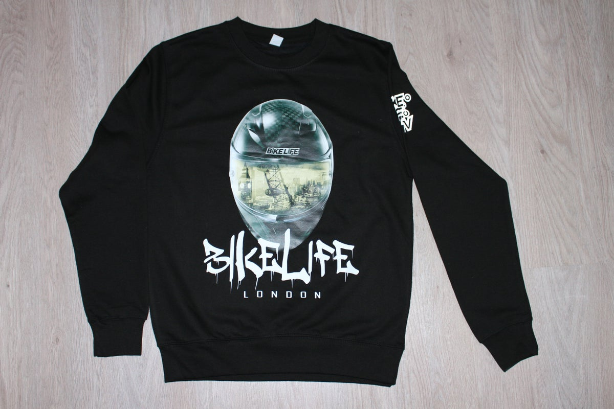 Image of Bikelife London 3D Helmet Effect Sweatshirt