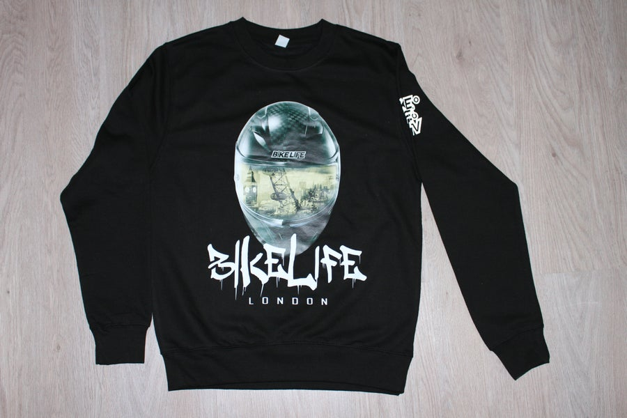 Image of BikeLife TV London Helmet Sweatshirt