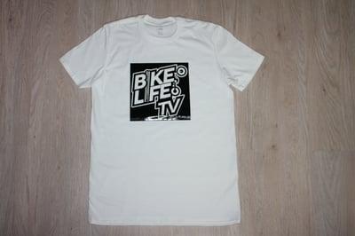 Image of BikeLife TV SQ Gloss White Tee
