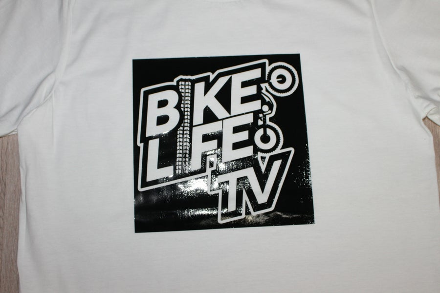 Image of BikeLife TV SQ Gloss White Tee