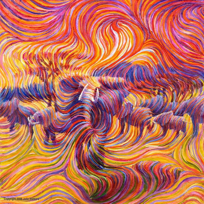 Image of Elephant Spiritual Protector Energy Painting - Giclee Print