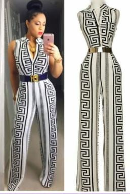 953bb321c269f Curls   Couture Boutique — Versace Inspired print jumpsuit